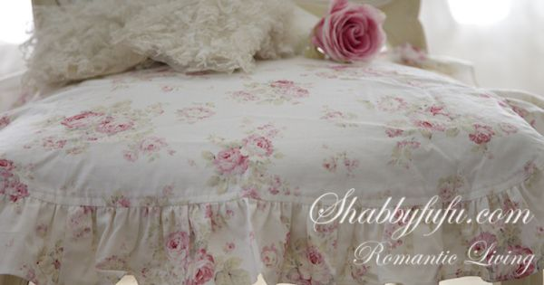 Simply Shabby Chic Chair Pads : shabby chic ruffled chair cushions Exclusive to Shabbyfufu... slipcovers Pinterest Chair ...