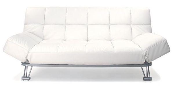 Sofa cama 3 plazas manhattan color blanco y de cuero for Sofa cama turquesa