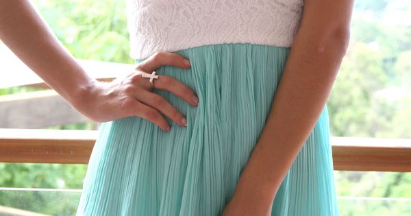 Mint tea summer dress