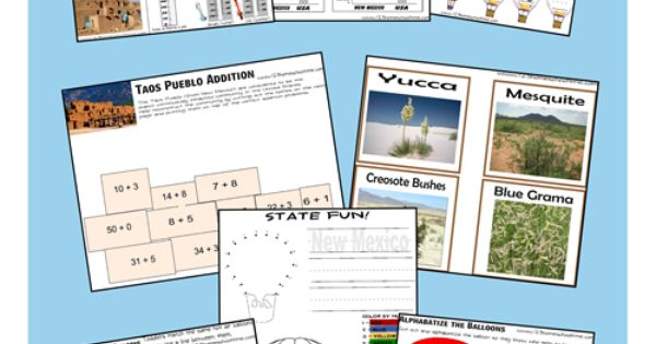 free new mexico worksheet pack worksheets and geography. Black Bedroom Furniture Sets. Home Design Ideas