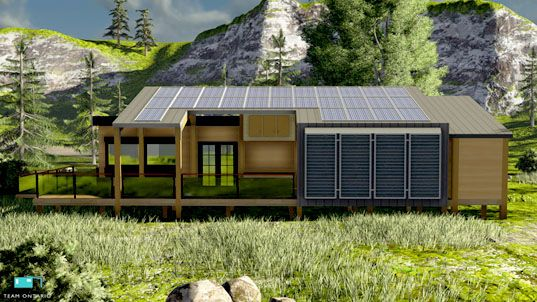 Ontario S Echo Net Zero Prefab Home Combines Passivhaus And Solar For Flexible Green Living Prefab Homes Residential Building Design Sustainable Architecture