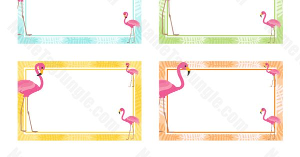 free printable pink flamingo name tags  the template can