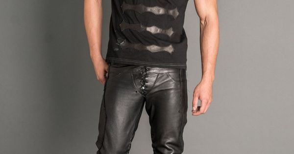 Logan Riese Leather T Shirt Mens 2014 Pinterest