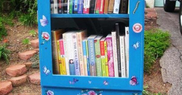 Mini library i was thinking about doing this with all my for Mini library at home