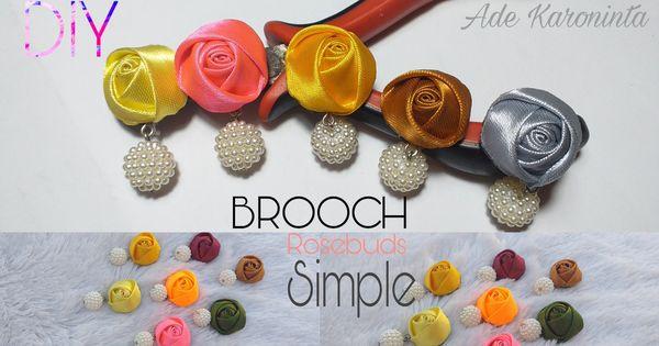 Bross Simpel Brooch Rosebud Rose Buds Brooch Stud Earrings