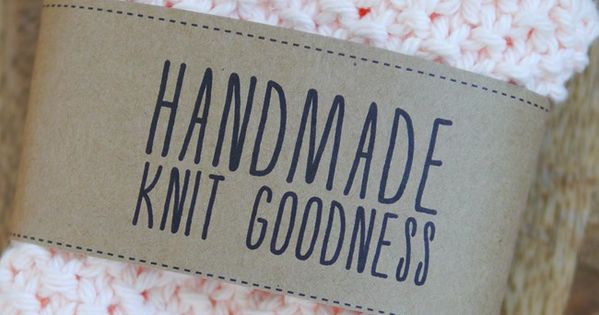Knitting Labels Free : Handmade knit goodness labels free printables on