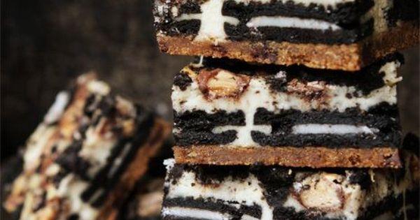 Slutty Cheesecake Bars **15 Dessert Recipes For The Super Bowl**