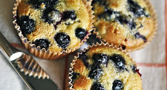Blueberry muffins--3 eggs 3 T melted virgin coconut oil 3 T raw