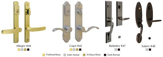 3 Point Lock Handle Options Entry Doors Entry Door Hardware