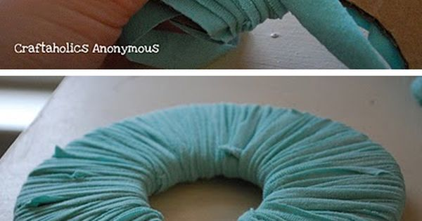 Make fabric pom poms from old clothes!