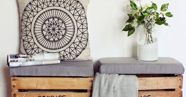 DIY Sitztruhe aus alten Holzkisten