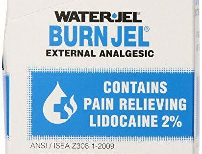 Water Jel First Aid Burn Relief Burn Jel 75 Count Survival