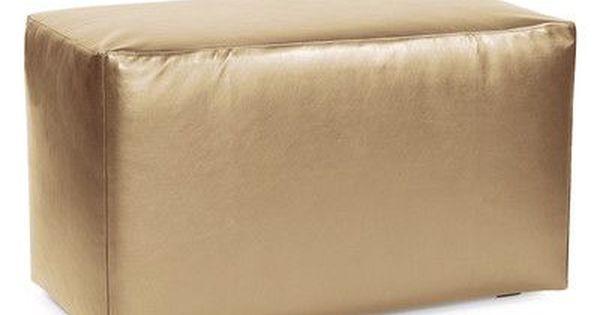 Latitude Run Josie Bench Slipcover Upholstery Shimmer Gold Ottoman Slipcover Ottoman In Living Room Soft Seating