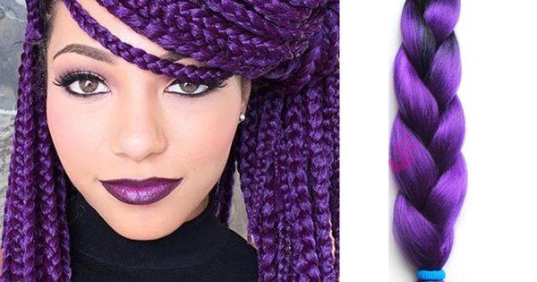 -Box-Braids-Hair-Kanekalon-Synthetic-Purple-Hair-Xpressions-Braiding ...