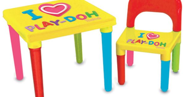 Play Doh My First Activity Table Chair Set With Creativity