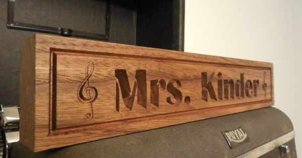 Desk Name Plate Teachers Gift Music Notes Name Plaque