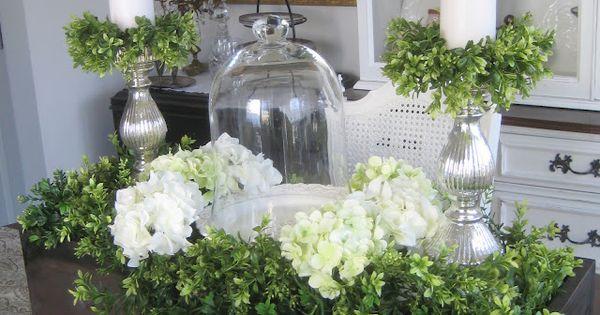 Spring Centerpiece Flowers Pinterest Centerpieces Hydrangea And Dining Room