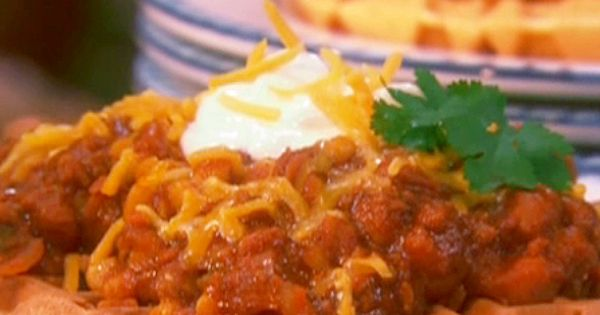 Cornmeal Waffles with Spicy Chili from FoodNetwork.com | Favorite ...