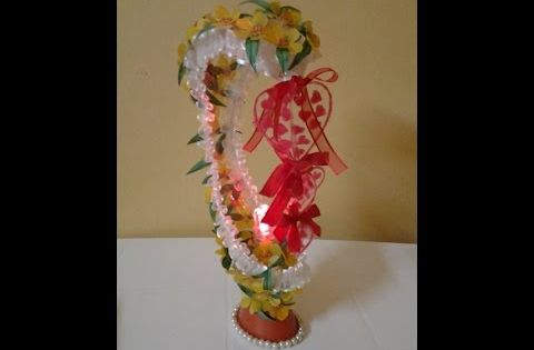 Best out of waste plastic oil can transformed to fabulous for Showpiece from waste material