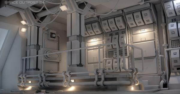 ArtStation - Space Outpost, Tim Witprächtiger   scifi ...