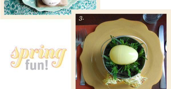 Cute Table Settings For Easter Brunch Plus I Really Like