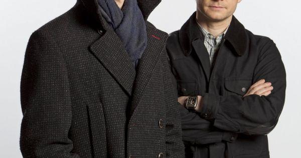 Benedict Cumberbatch as Sherlock Holmes. Martin Freeman as John Watson. No, really,