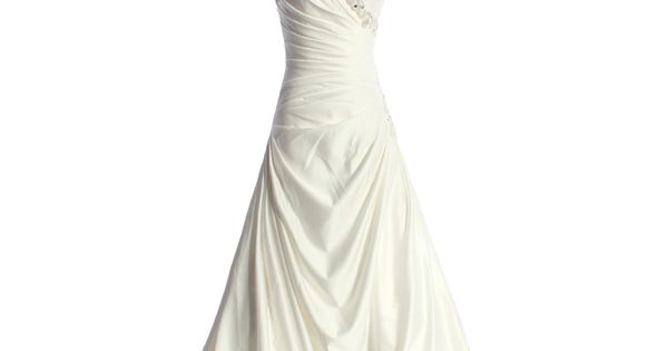 A-line Sweetheart Chapel Train Charming Satin wedding dress | See more about