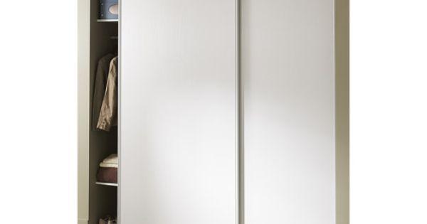 Porte de placard coulissante l210xh250 cm blanc rangement dressing magas - Leroy merlin rangement placard ...