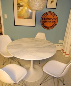 How To Happy Hour Faux Carrara Marble Ikea Hack Saarinen