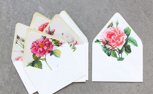Sideshow Press, floral envelope liners mail
