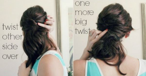 4-Step Hair Tutorial - Rags to Stitches Blog