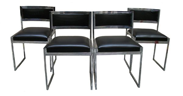 Gruppo 4 sedie willy rizzo in acciaio cromato mobili ed for Mobili willy rizzo