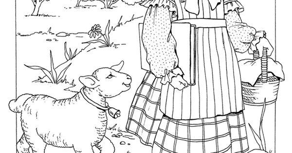 Nursery Rhyme Coloring Page Inkspired Musings Mary Had A