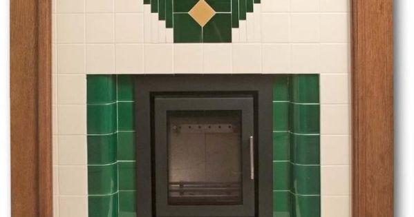 Design your own fireplace mantel wyndham art deco tiled for Design your own fireplace