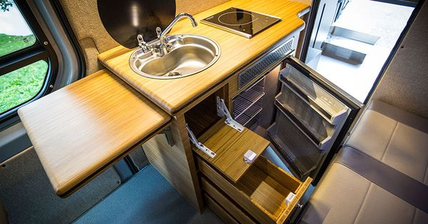 Galley kitchen compact medium large outside van for Converting galley kitchen to open kitchen