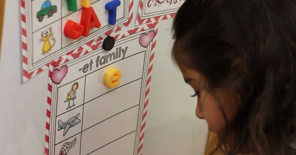 Word family/ spelling word work station