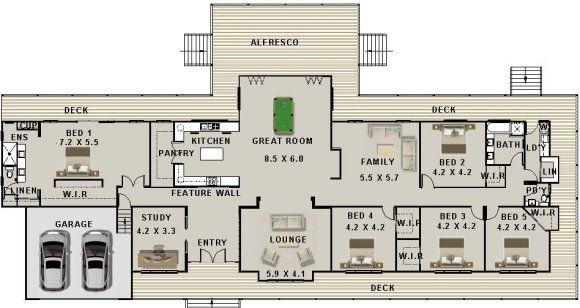 Country Style 5 Bedroom House Plan House Plan House Plans Australia Australian House Plans Country House Plans