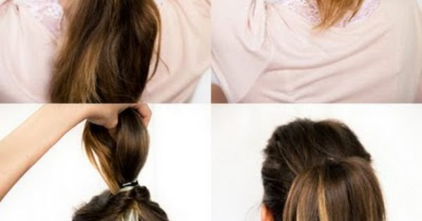 Hair- style a topsy turvy pony tail