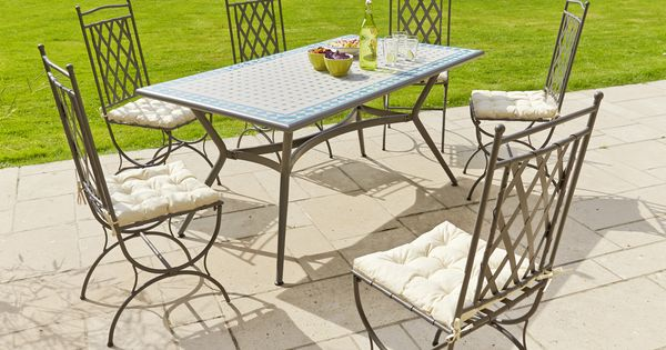 table mosa que structure acier galvanis plateau. Black Bedroom Furniture Sets. Home Design Ideas