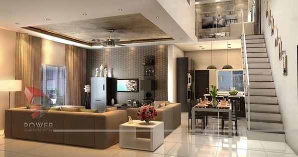 3D House Interior Design Rendering Power