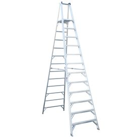 Werner 12 Ft Aluminum 300 Lb Type Ia Platform Ladder P412 Step Ladders Ladder Platform Ladder