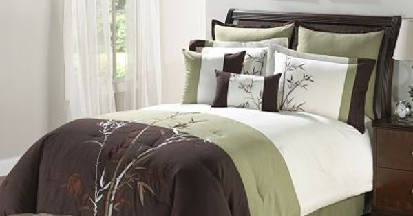 Bamboosa 8 Pc Leaf Comforter Set Queen From Kohls Getting This For The Bedroom