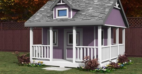 Kids 10x10 Playhouse Plan Play Houses Build A Playhouse Building A Shed