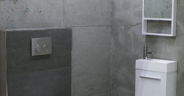 der neue industry style betontechnik fliesen in betonoptik mit toller spachteltechnik wc von. Black Bedroom Furniture Sets. Home Design Ideas