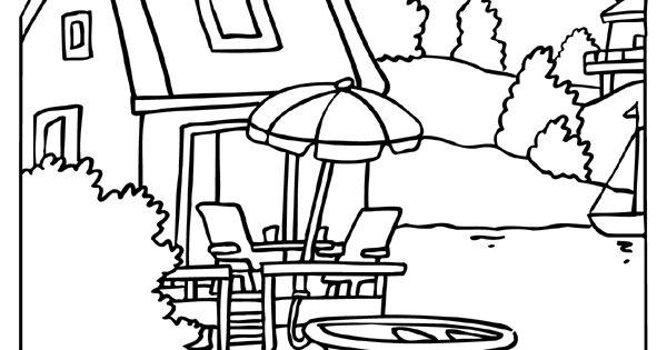 Kleurplaat Gezellig Huisje Aan Het Water Kleurplaten Nl