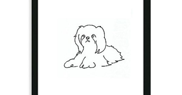 how to draw shih tzu cartoon