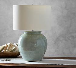 Courtney Ceramic Table Lamp Base Blue Pottery Barn Table Lamp Table Lamp Base Pottery Barn Lamps