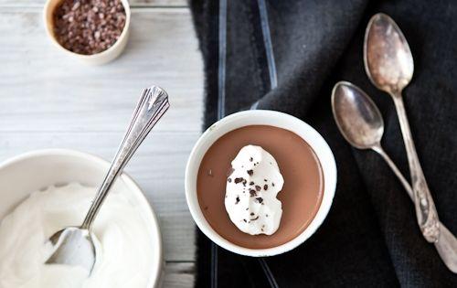 vanilla rice pudding & chocolate panna cotta ... | food | Pinterest ...