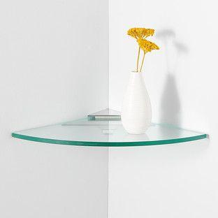 Glass Corner Shelf Kit Glass Corner Shelves Floating Glass