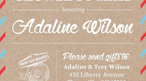 Baby Shower Through Mail ~ Shower by mail invitation themed baby on